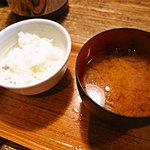 麻布十番 もち玉 - 子供用ごはん&お味噌汁(無料でした)
