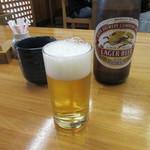 手打ちそば一栄 - 瓶ビール