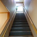 矢形屋 - 2Fはへの階段