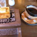 みどりや - 料理写真:炭焼焙煎珈琲マスタードリップとモーニングサービス