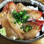 中華そば よしかわ - カンパチ丼UP