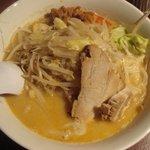 極太野菜味噌 ○助 - 味噌らぅめん 750円