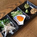 割烹 七草 - 富士まぶしの薬味('17/08/25)