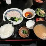 三代目 ぬる燗 加藤 - 「鯛飯定食 宇和島Style」(¥950)