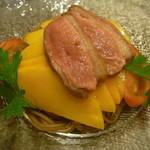 イタリアンレストラン Zucca - 鴨とマンゴーの冷製パスタ