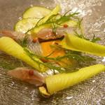イタリアンレストラン Zucca - 銚子産イワシのカルパッチョ サラダ仕立て