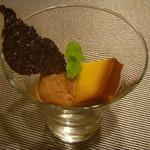イタリアンレストラン Zucca - カボチャのプリンとキャラメルのジェラート