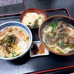 麺八 - 肉うどんとカツ丼