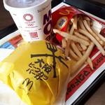 マクドナルド - 料理写真:大阪ビーフカツバーガーセット