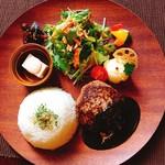 京都 れとろ洋食 LOCAVO - 黒デミグラスソースハンバーグ