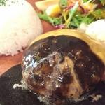 京都 れとろ洋食 LOCAVO - チーズハンバーグ