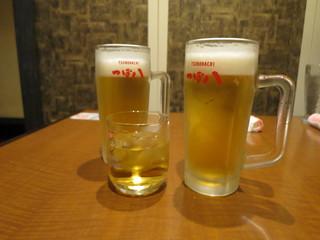 つぼ八 麻生店 - 最初はビール♪(2017年8月)