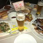 うめだ阪急ビアガーデンマルシェ - 机