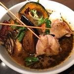 スープカリー スアゲ プラス - 知床鶏と野菜カレー @1,150円 素揚げ野菜がゴロゴロのスープカレー!