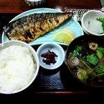 7206711 - 漁火 @八丁堀 焼魚定食(鯖塩) 720円