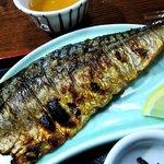 7206712 - 漁火 @八丁堀 大きく身の厚い鯖の塩焼