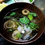 7206714 - 漁火 @八丁堀 焼魚定食に付く味噌汁