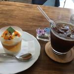 パティスリー ヴェルヴェーヌ - 料理写真:トワ ジャンル ジュレとアイスコーヒーで780円