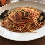 レストラン カステッロ - 魚介のトマトソーススパゲッティ
