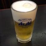 おらが蕎麦 - 生ビール(430円)