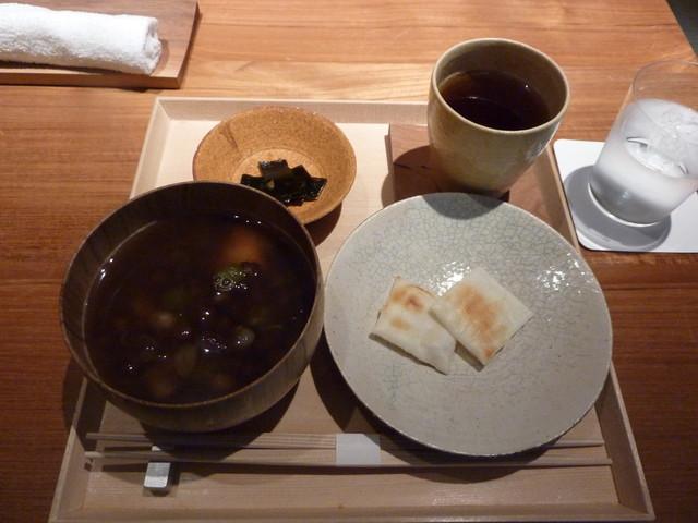祇園NITI - ほうじ茶ぜんざいセット 1,000円