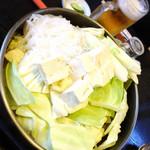ミートプラザ尾形 - 中肉鍋調理前の光景!