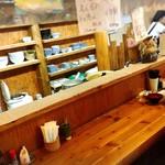 みなと食堂 - 店内カウンターの景色!