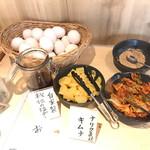 馬肉と酒 生肉専家 TATE-GAMI - 食べ放題コーナー①