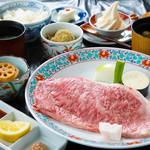 彩岳館 - 豊後牛ステーキ御膳 3000円
