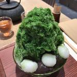たねや茶屋 - ★★★ かき氷 抹茶+ソフトクリーム たねやさんのお餅は杵つきなので美味しい!!