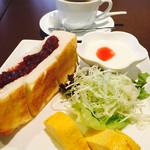 玉かふぇ - 料理写真:ブレンドコーヒー¥400 小倉トーストモーニング(ヨーグルト選択)