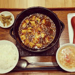 mandarimma-kettobunkaichiba - 博多和牛入り土鍋麻婆豆腐セット