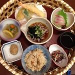 割烹つきまち - 料理写真:●ミニ花かご膳 1500円→1000円 ランパスvol.9提示 かご膳、茶わん蒸し、汁物