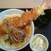 手打そば はなと - 料理写真:ジャンボ海老天丼(税込み1340円)
