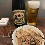 神七 - 肉豆腐&瓶ビール