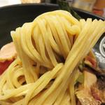 つけ麺Tetsuji - 麺はライ麦入りの自家製麺。
