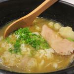 つけ麺Tetsuji - お値段には、〆ごはん・スープ割りも含まれます。
