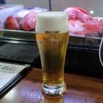 炭火焼 みや澤 - 生ビール
