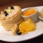 72085956 - パンケーキセット                       ~豆乳クリームパンケーキ~
