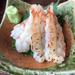 まぐろや 柳橋 - 赤海老の炙り