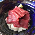 まぐろや 柳橋 - ご飯は酢飯だからついつい(笑)