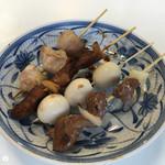 花山 - 豚バラ&竹の子燻製巻&うずら&砂ズリ