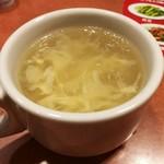 バーミヤン - 中華丼でスープバーがついてきた!