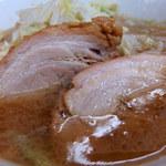 ラーメン二郎 - ラーメン豚2枚・ニンニク(730円)+つけ麺変更(50円)