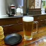 炭火焼きとり 人生劇場 - 生ビール
