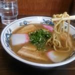 山為食堂 - 中華そばの中太麺