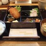 漁港直送鮮魚と地酒 くすくす - 2011/2/16 日替わり和弁当
