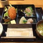 漁港直送鮮魚と地酒 くすくす - 2011/3/2 日替わり和弁当