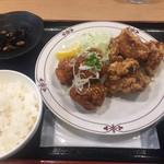 川崎鶏唐揚定食店 - 「甘だれ+ニンニク」の大盛¥864