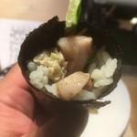 第三春美鮨 - 鮪の炙りと山葵漬けの巻物